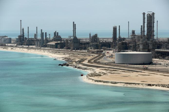 Saudi Aramco's enorme Ras Tanura raffinaderij in Saudi Arabia