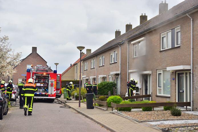 Brand in huis in Oud Gastel.