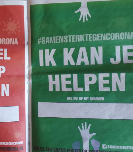 Wie hulp wil vragen of geven, kan dit in in Rheden en Rozendaal duidelijk maken met een poster