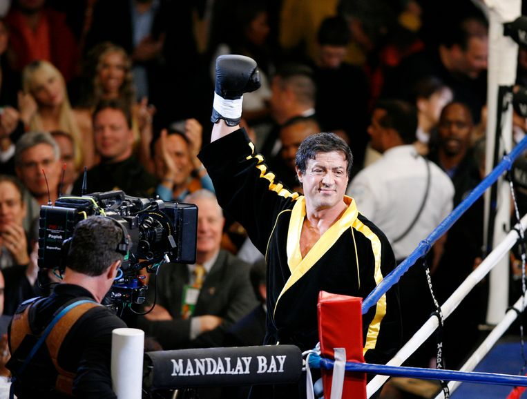 Sylvester Stallone tijdens de opnames van 'Rocky VI'