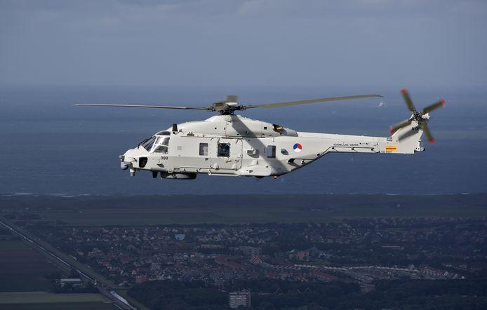 Foto ter illustratie. Een NH90 maritieme gevechtshelikopter.