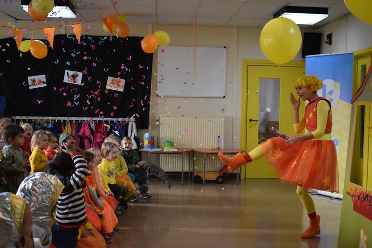 Kaatje vierde haar verjaardag samen met de kleuters van 't Zwaluwnest.