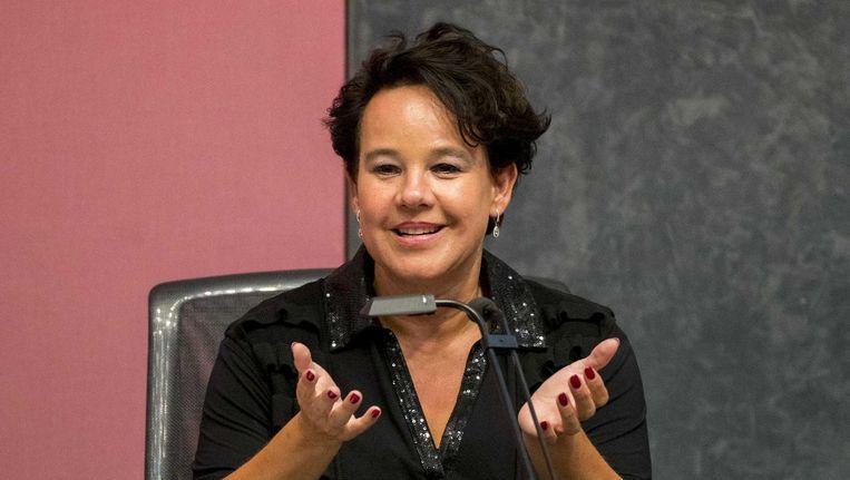 Wethouder Sharon Dijksma maakt zich zorgen over de incidenten waarbij taxibedrijf Uber steeds is betrokken Beeld ANP