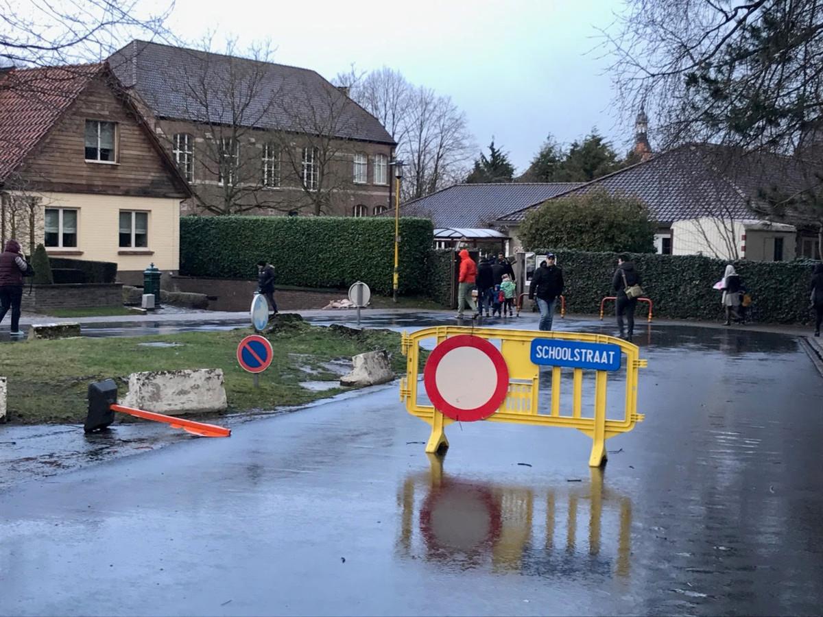 Aan de achterkant van basisschool Prinsenhof wordt een schoolstraat ingericht.