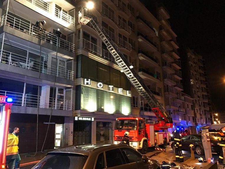 De brandweer rukte gisteren uit naar de Franchommelaan.