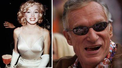 Hugh Hefner in besloten kring bijgezet naast Marilyn Monroe