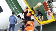 Video onthult hoe ferrykapitein eerst zichzelf redde