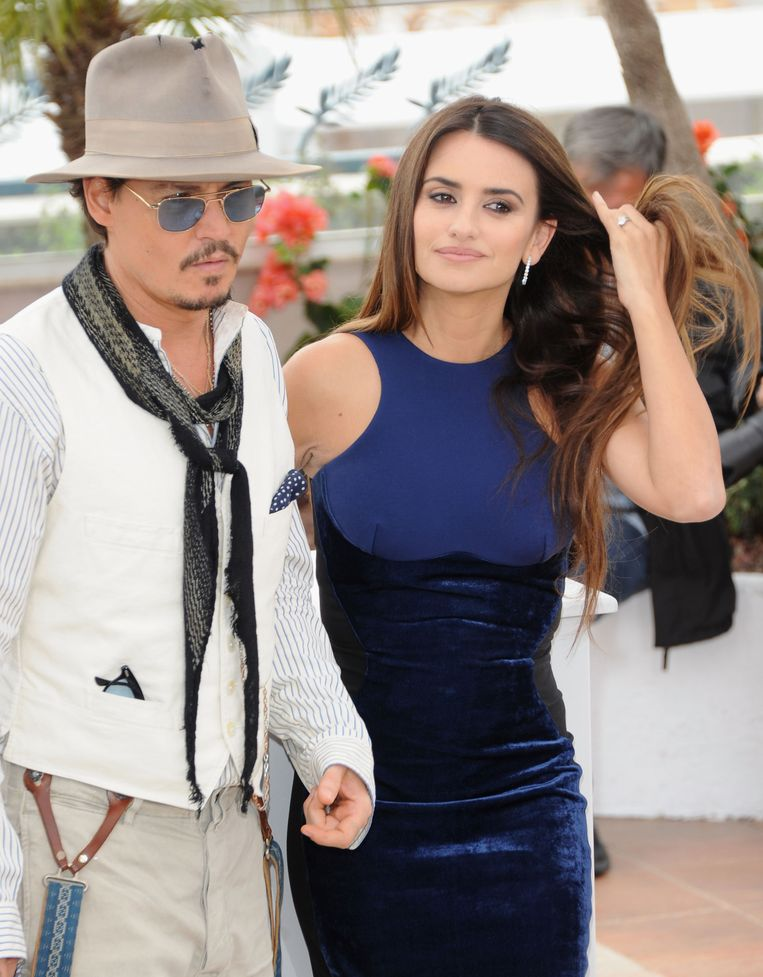 Actors Johnny Depp en Penelope Cruz