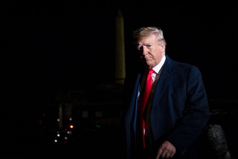 Vandaag beginnen de openbare hoorzittingen in het impeachmentonderzoek tegen president Trump. Beeld Hollandse Hoogte