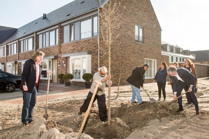 Twee jaar geleden werden in eerdere fase van de transformatie van de wijk ook nieuwe woningen opgeleverd in de Driesprong.