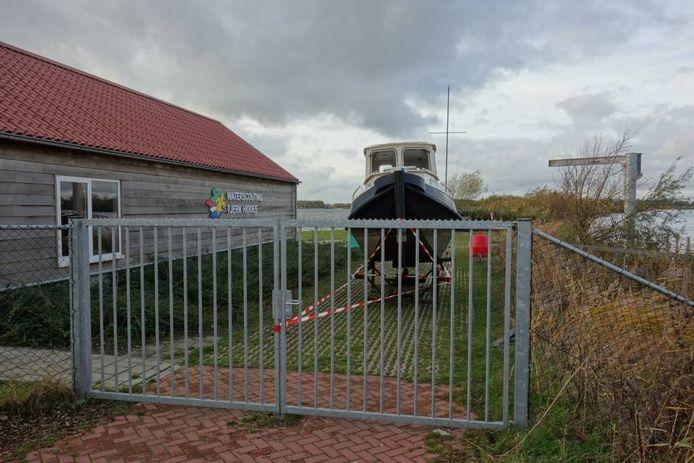 Het onderkomen van Tjerk Hiddes op de Strekdam.