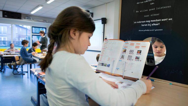 Op De Fontein krijgen de kinderen les in de geest van managementbestseller-auteur Stephen Covey. Beeld Werry Crone