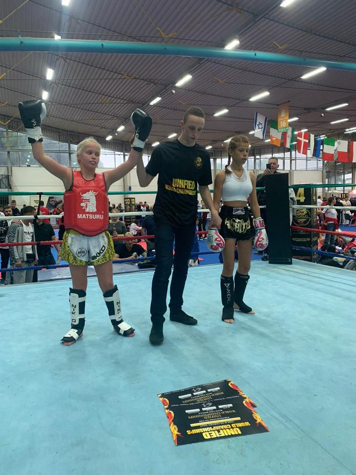Roxanne Kivits uit Den Bosch (links) was dit weekeinde twee keer de beste van de wereld