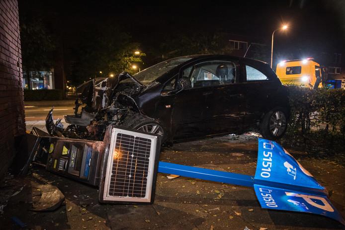 Ravage op de Bredaseweg in Tilburg.