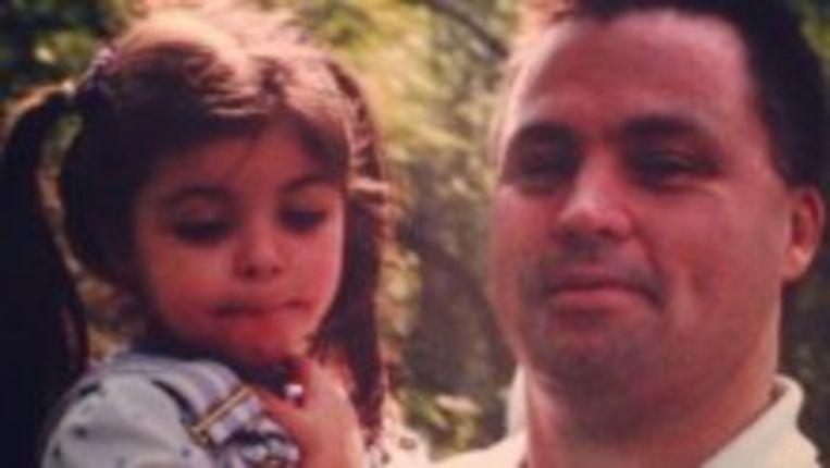 Caitlin en haar vader James.