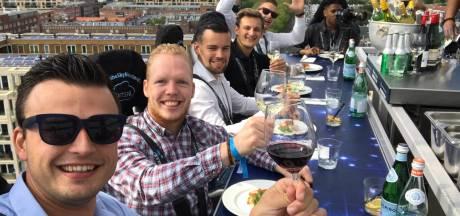Kleine Schorre neemt high wine letterlijk met een proeverij zwevend op 50 meter hoogte