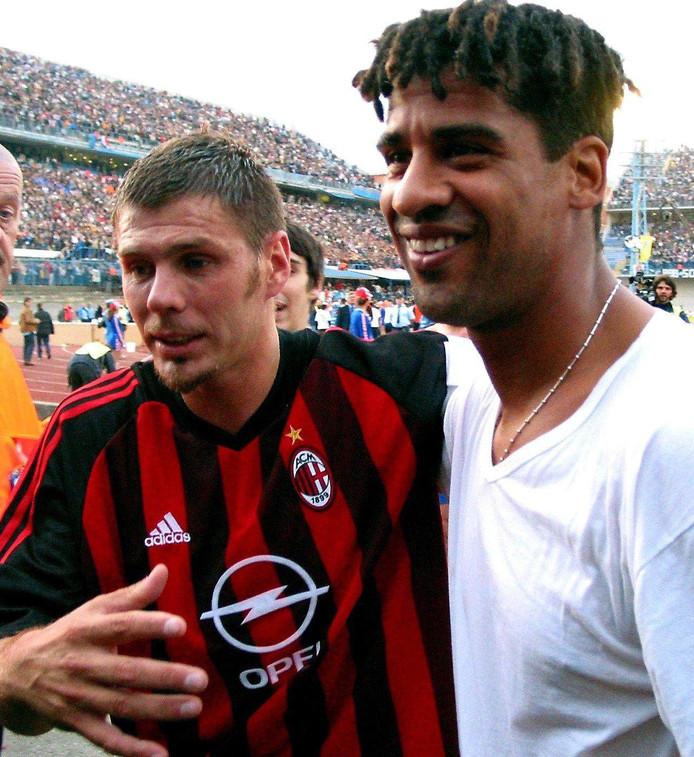 Zvonimir Boban (links) samen met Frank Rijkaard.