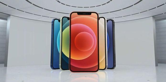 Apple stelt verschillende modellen van iPhone 12 met 5G voor.