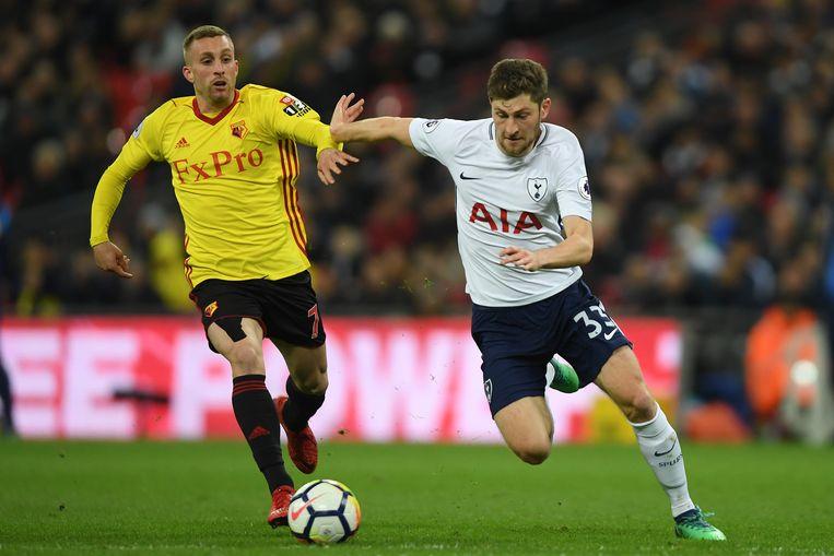 Deulofeu vorig seizoen in actie tegen Spursverdediger Ben Davies.