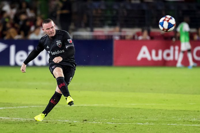 Wayne Rooney in actie namens DC United.