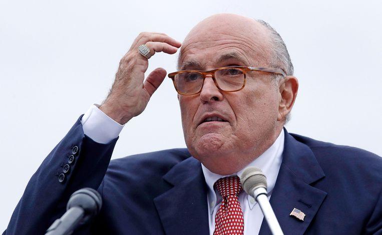 Rudy Giuliani, advocaat van Donald Trump. Beeld AP