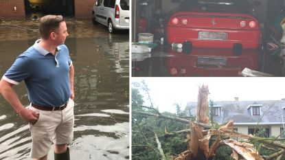 VIDEO: Onweer en felle hagelbuien teisteren kuststreek, blikseminslagen en ondergelopen straten in Limburg