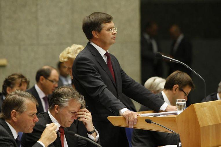 Premier Balkenende tijdens de Algemene Beschouwingen (ANP) Beeld
