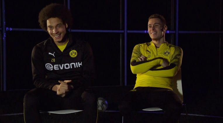 Axel Witsel en Thorgan Hazard in een exclusief interview met Proximus Sports