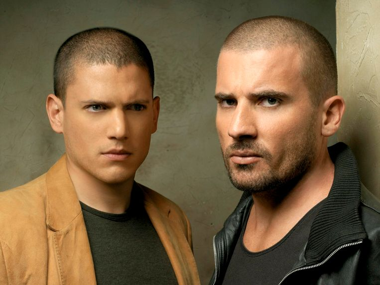 Wentworth Miller (L) en Dominic Purcell