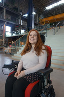 Amber van Ginneken in de LocHal.