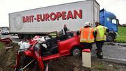 Trucker kan ongeval niet vermijden