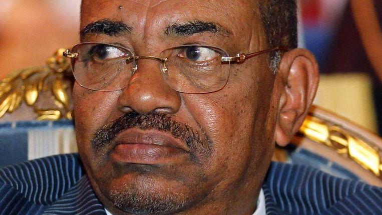President van Sudan, Omar Hassan al-Bashir. Beeld reuters