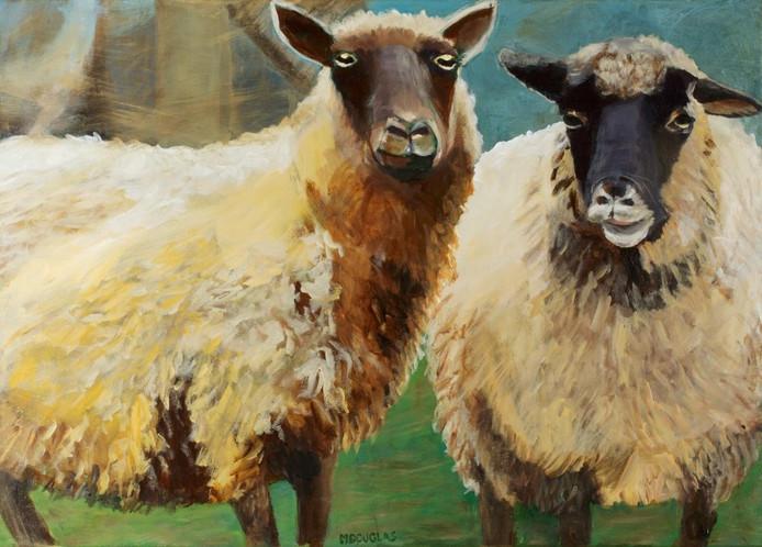 Een schilderij van kunstenares Mees Douglas.