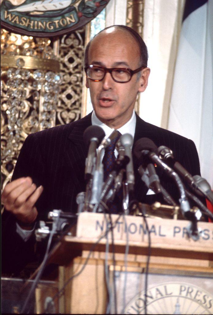 Valéry Giscard d'Estaing tijdens een staatsbezoek in mei 1976 aan de VS.