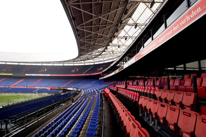 De tribune van stadion De Kuip.