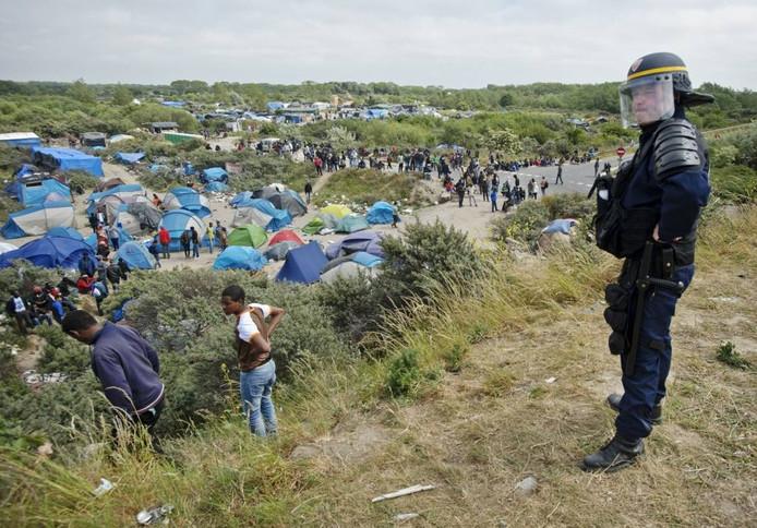Frankrijk zit in Calais met 9.000 vluchtelingen die daar allemaal niet willen zijn. foto ANP