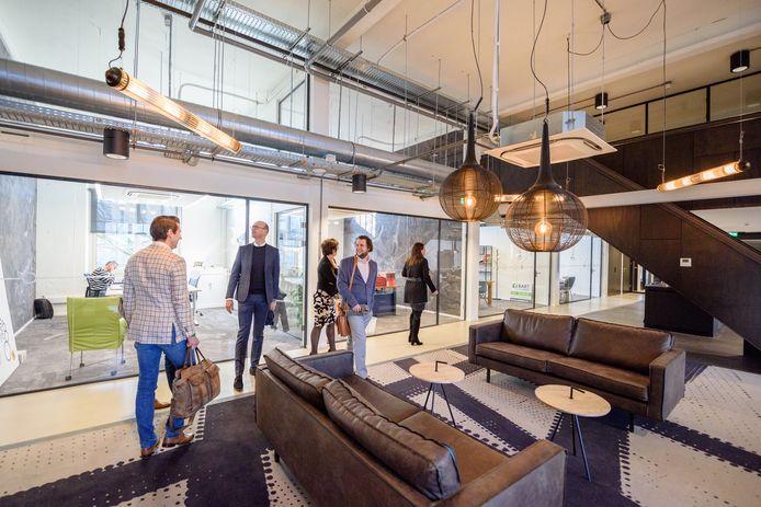 Interieur van een deel van ondernemershuis Station88 in Tilburg.