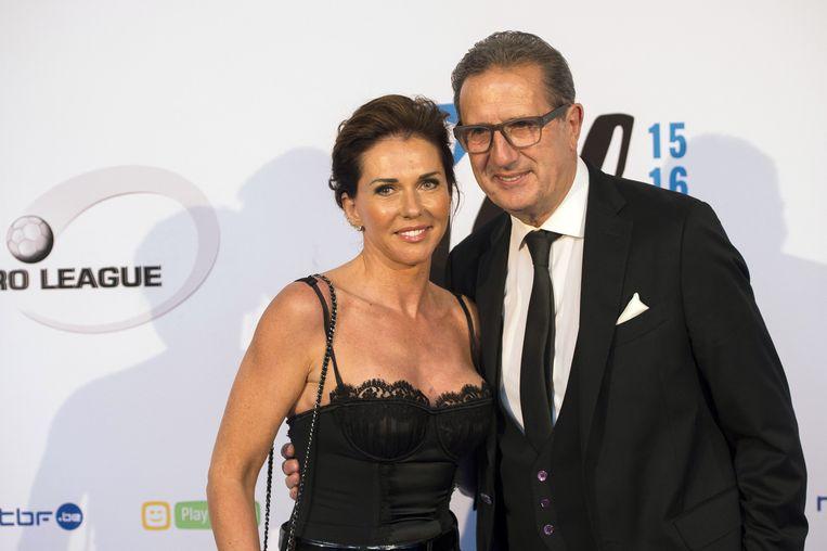 Georges Leekens en zijn vrouw Kathleen.
