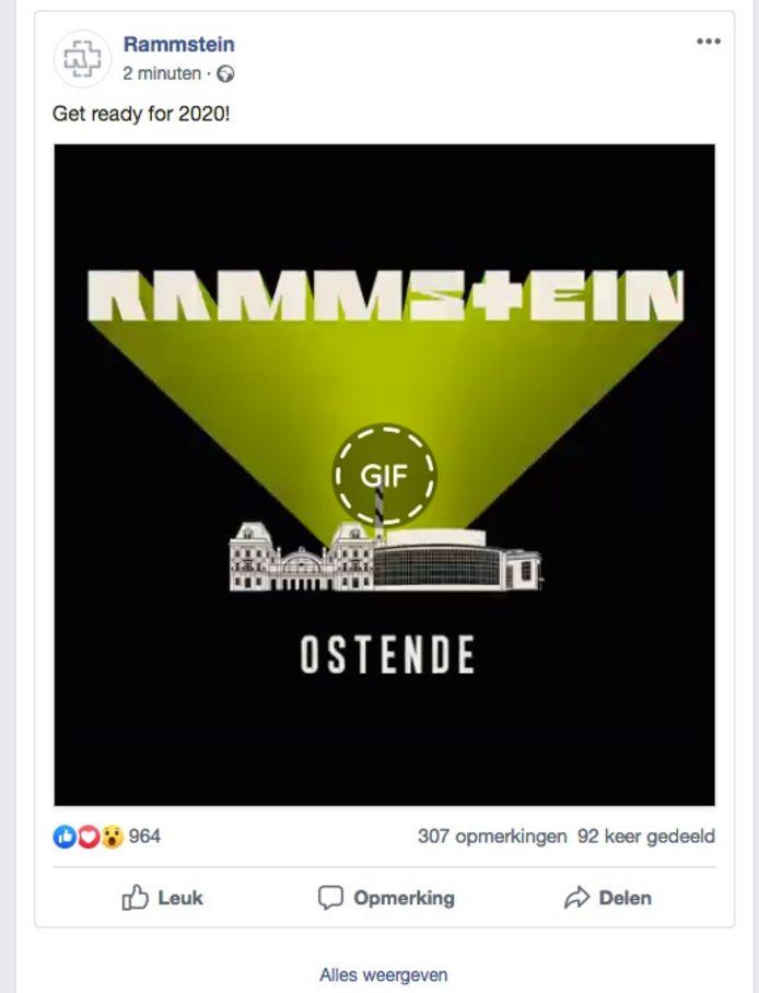 De band maakte het nieuws zelf bekend op zijn Facebookpagina.
