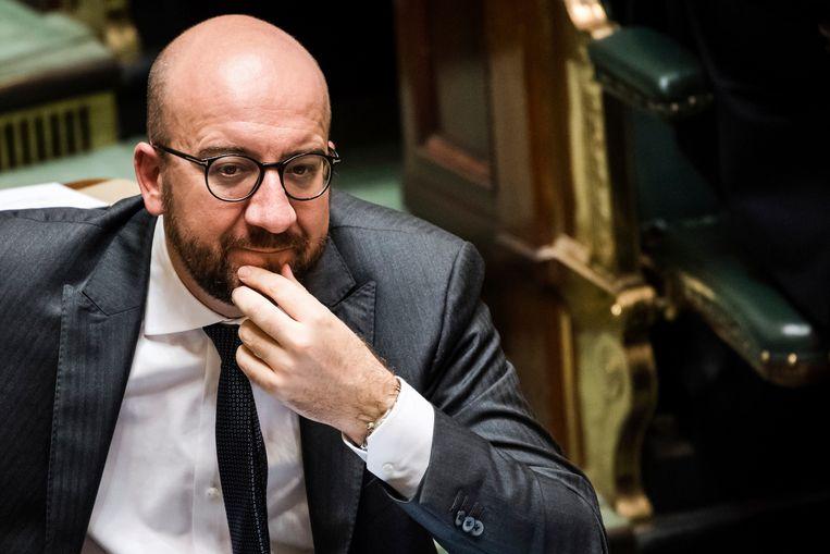 Charles Michel blijft aan als demissionair premier van België tot de al geplande verkiezingen in mei  Beeld AP