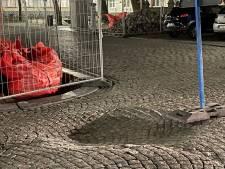 Jan Van Eyckplein gedeeltelijk afgesloten door grondverzakking