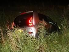 Auto belandt in sloot in Ammerzoden, bestuurster lichtgewond