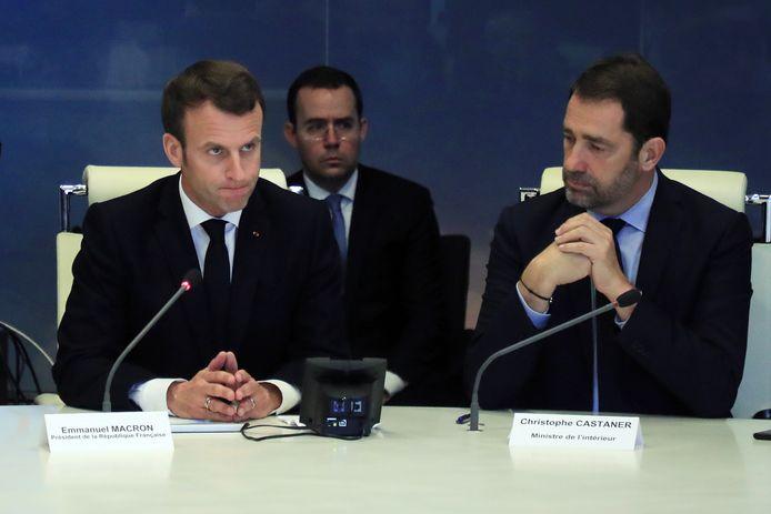 Emmanuel Macron et le ministre de l'Intérieur Christophe Castaner
