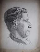 Meneer Te Haak of Te Laak, getekend rond 1940 door Bert Gorissen