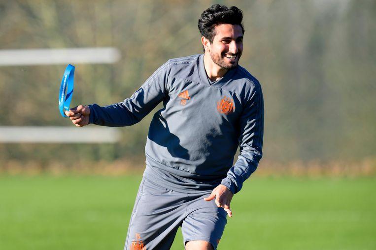 Saief op training van Anderlecht.