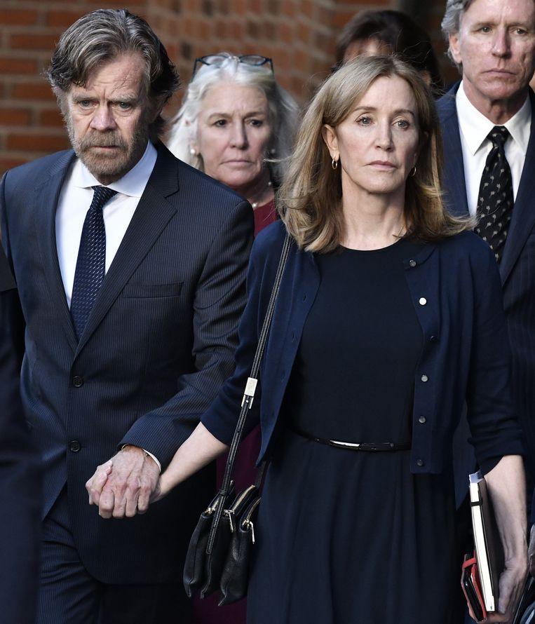 'Desperate Housewives'-actrice Felicity Huffman en haar echtgenoot.
