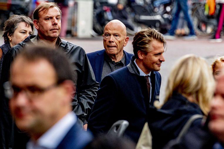 Advocaat Peter Plasman voorafgaand aan de herdenking voor Derk Wiersum in cultureel debatcentrum Rode Hoed.  Beeld Robin Utrecht / ANP