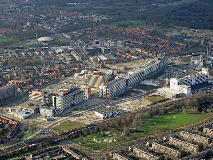Strijp S in Eindhoven vanuit de lucht, januari 2012. Foto Ronald Otter