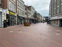Corona zorgt voor een lege binnenstad in Eindhoven