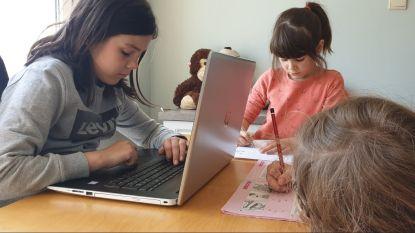 """Pre-teaching in het gezin De Grauwe met vier dochtertjes: """"Al paar keer horen donderen in Keulen. Gelukkig is er dan Google"""""""